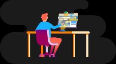 O aluno envia o código para o tutor via Github