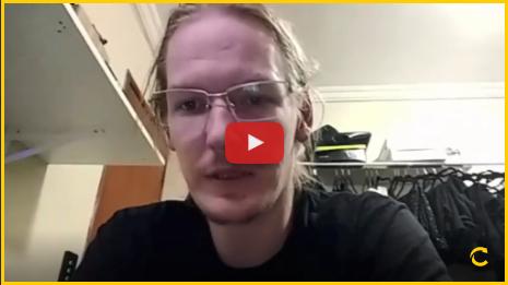 Video de depoimento de aluno